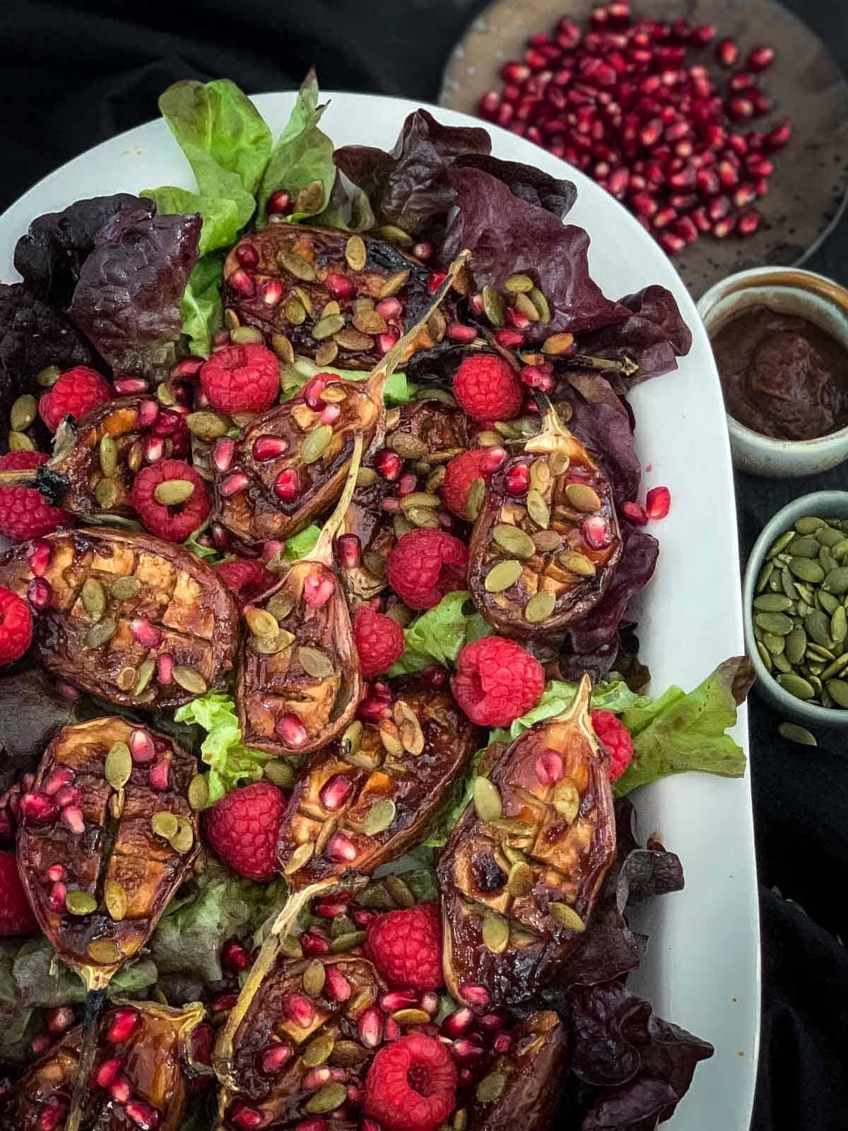 Tamarind Roasted Baby Eggplant Salad